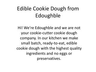 Edible Cookie Dough from Edoughble