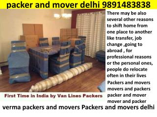 packer and mover delhi   9891483838