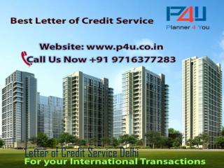 Best Letter of Credit Service Delhi by P4U Call at 9716377283