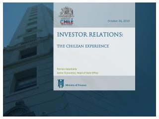Investor relations:  The Chilean experience