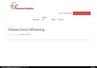 Ottawa Zoom Whitening – Florence Dentistry