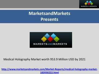 Medical Holography Market worth 953.9 Million USD by 2021