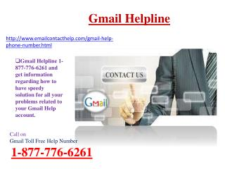 Gmail Help Phone Number 1-877-776-6261 Resolve Gmail password issue