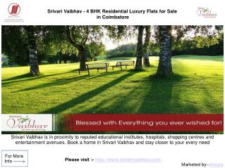 Srivari Vaibhav - Luxury homes in Koundampalayam Coimbatore