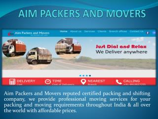 Aim Packers and Movers Gurgaon