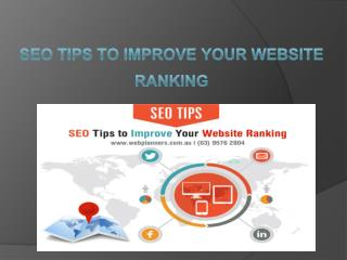 SEO Tips To Improve Your Website Ranking - Market Strategy & Webplanners