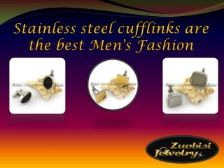 Stainless steel cufflinks are the best Men's Fashion