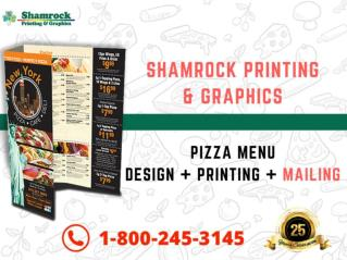 Shamrock Printing and Graphics - Pizza Menu Printing Company