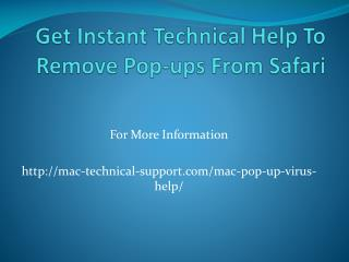 Get Instant Technical Help To Remove Pop-ups From Safari