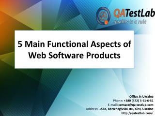 5 Main Functional Aspects of Web Software Products