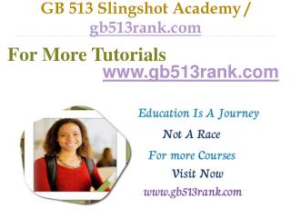 GB 513  Slingshot Academy / gb513rank.com