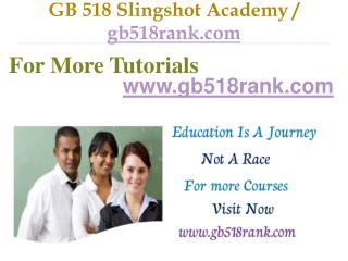 GB 518 Slingshot Academy / gb518rank.com