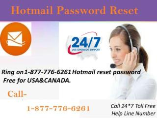 Provide Grab Hotmail Password Reset  1-877-776-6261 in USA