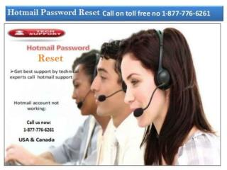 Find Effective Solution Dial 1-877-776-6261 for Hotmail Password Reset