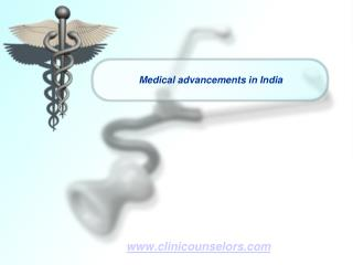 Medical advancements in India