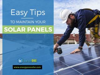Tips to Maintain your Solar Panels