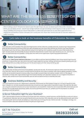 What are the Business Benefits of Data Center Colocation Services