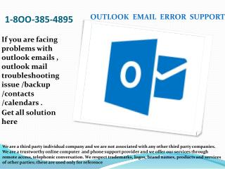 1-8OO-385-4895 MS Outlook Email Error Tech Support Phone Number