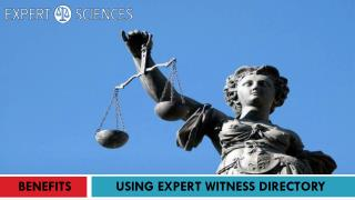 BENEFITS OF USING EXPERT WITNESS DIRECTORY