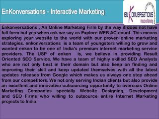 professional seo services india | enkonversations