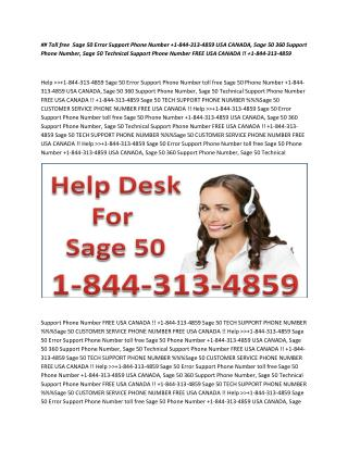1*844*313-4859 SAGE 50 technical support phone number ...