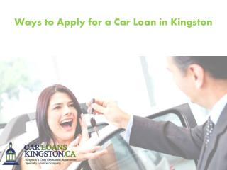 Ways to Apply for a Car Loan in Kingston