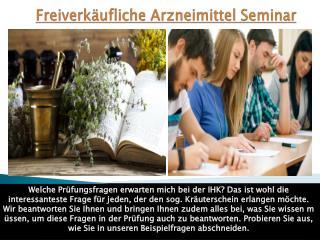 Freiverkäufliche Arzneimittel Seminar