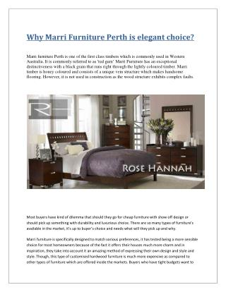 Why Marri Furniture Perth is elegant choice?