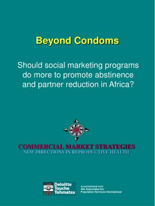 Beyond Condoms