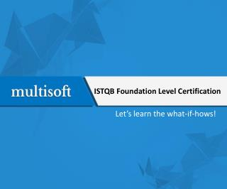 ISTQB Foundation Level Certification
