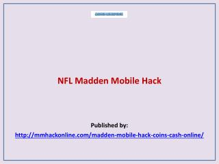 Madden Mobile Hack-NFL Madden Mobile Hack