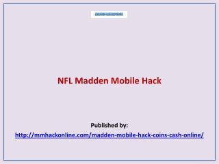 Madden Mobile Hack-NFL Madden Mobile Hack