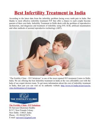 Best Infertility Treatment in India