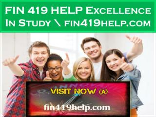 FIN 419 HELP Excellence In Study \ fin419help.com