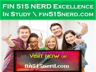 FIN 515 NERD Excellence In Study \ fin515nerd.com