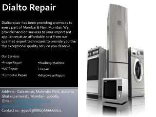 Home Appliances and Services in Mumbai & Navi Mumbai - Dialto Repair