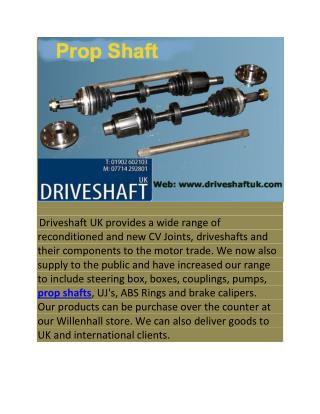 Prop Shaft UK
