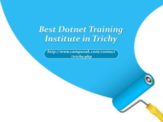Best Dotnet Training Institute in Trichy
