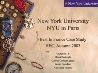 New York University NYU in Paris