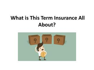 What is This Term Insurance All About?