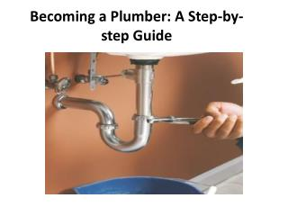 Becoming a Plumber