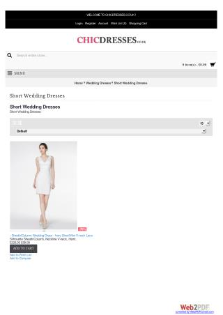 Designer Short Wedding Dresses Uk - Chicdresses.co.uk