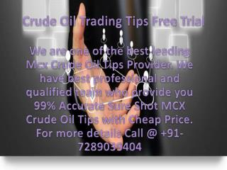 Best Crude Oil Tips Provider In India