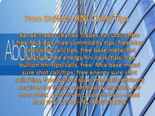 Free MCX Base Metal Sureshot Calls/Tips