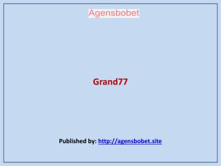 Agen Sbobet-Grand77