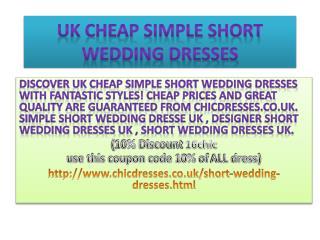 Uk cheap simple short wedding dresses