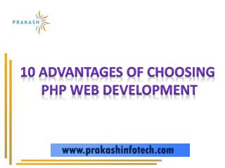 Importance and benefits of PHP Web Application Development