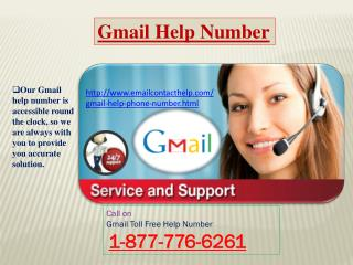 Try us! Dial Gmail Help Phone Number 1-877-776-6261 to contact Gmail help team