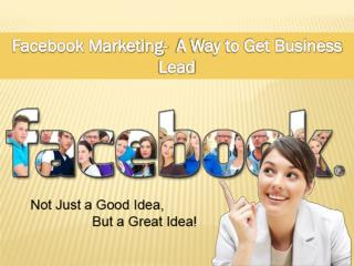 Facebook Marketing- A Way to Get Business Lead