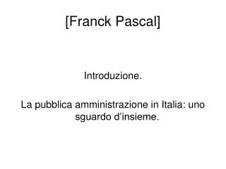 [Franck Pascal]